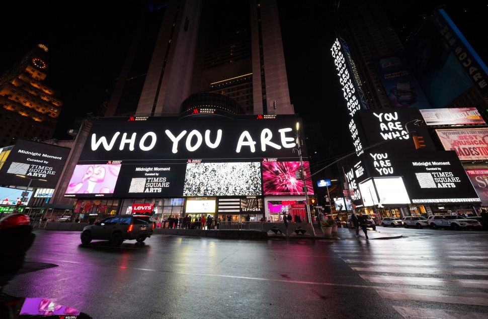 Artist Shantell Martin Takes Over Times Square Billboards to Ask, 'Who Are You?'