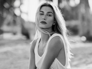 hailey baldwin bieber elle cover