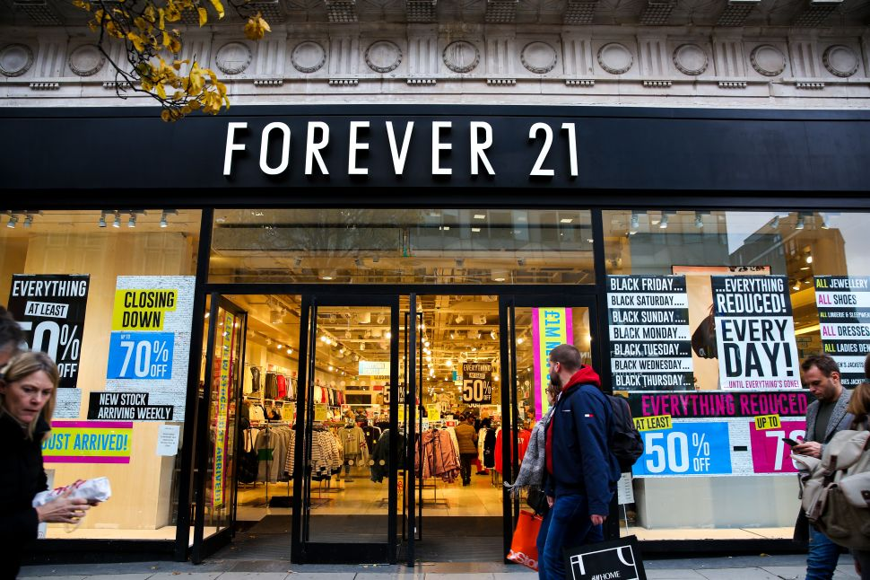 Bankrupt Fast Fashion Empire Forever 21 Will Sell Itself for 99% Off