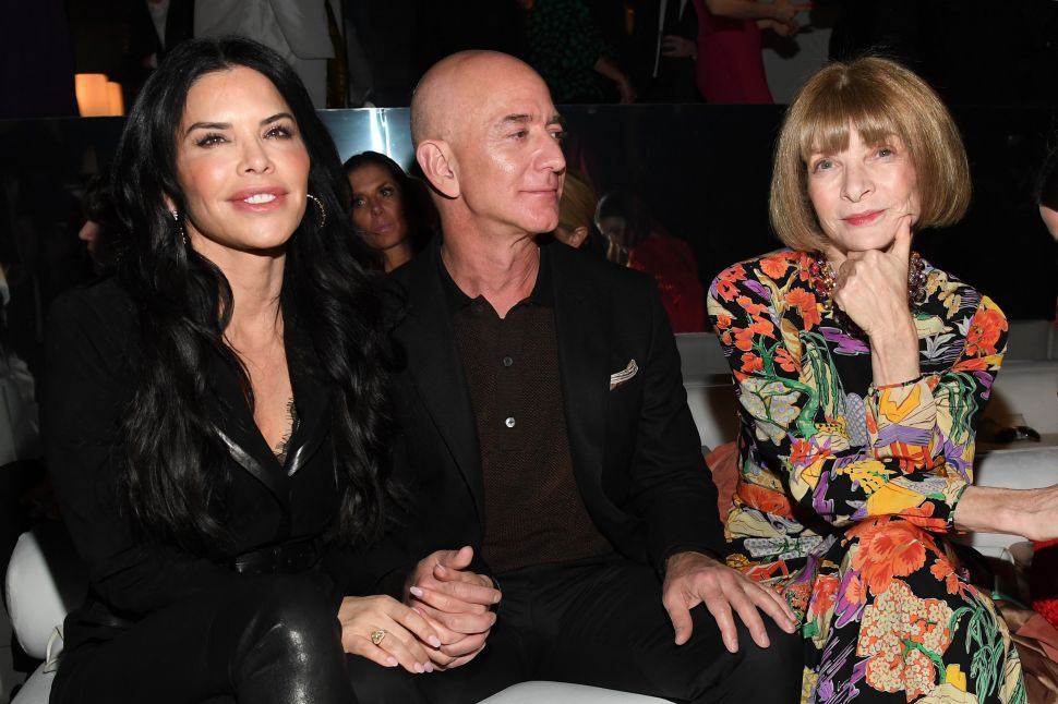 Lauren Sanchez, Amazon CEO Jeff Bezos and Anna Wintour