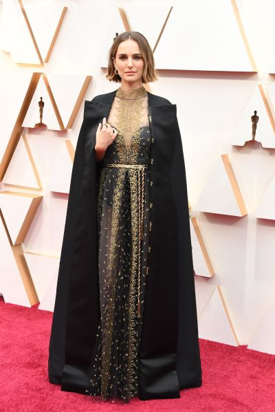 Oscars 2020: Natalie Portman's Dress Named Women Shut Out ...