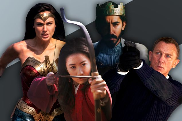 Wonder Woman 1984, Mulan, The Green Knight, and No Time to Die.