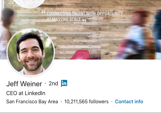 LinkedIn CEO Jeff Weiner Announces Job Change—With a LinkedIn Update