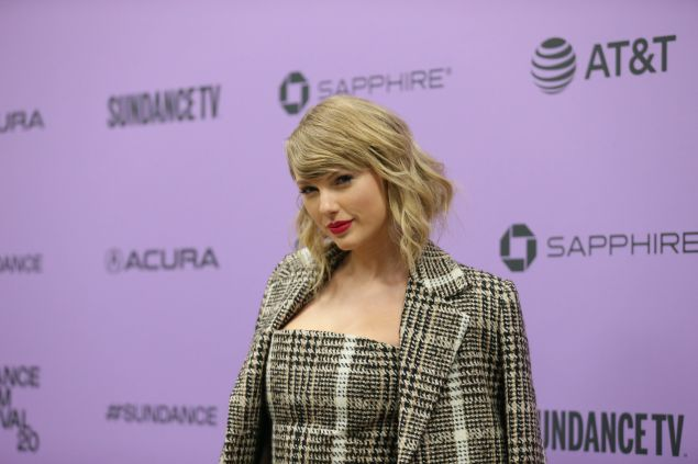 Taylor Swift attends the World Premiere of Miss Americana