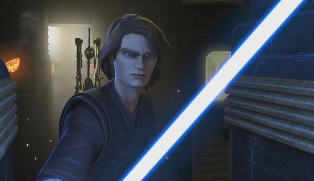 Anakin Skywalker in The Clone Wars disney plus