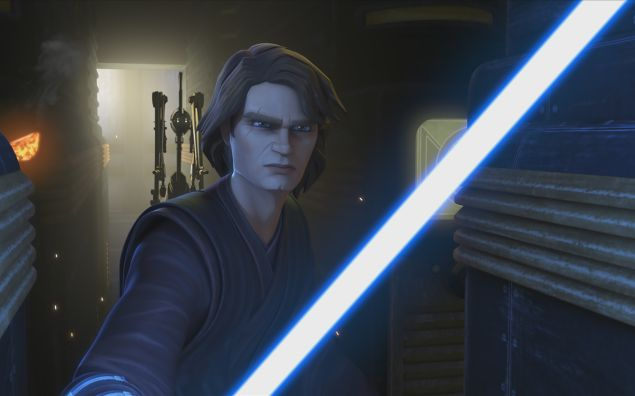 Anakin Skywalker in The Clone Wars disney plus