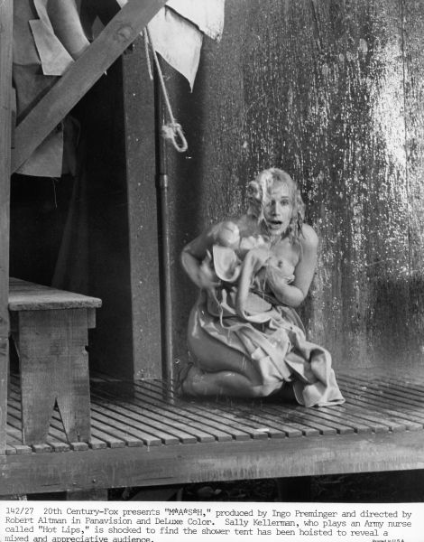 Sally Kellerman mash shower scene archival