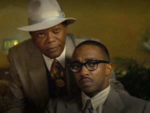 samuel l jackson anthony mackie in the banker