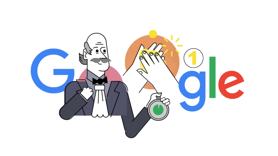 Google Doodle Honors Dr. Ignaz Semmelweis, Champion of Handwashing
