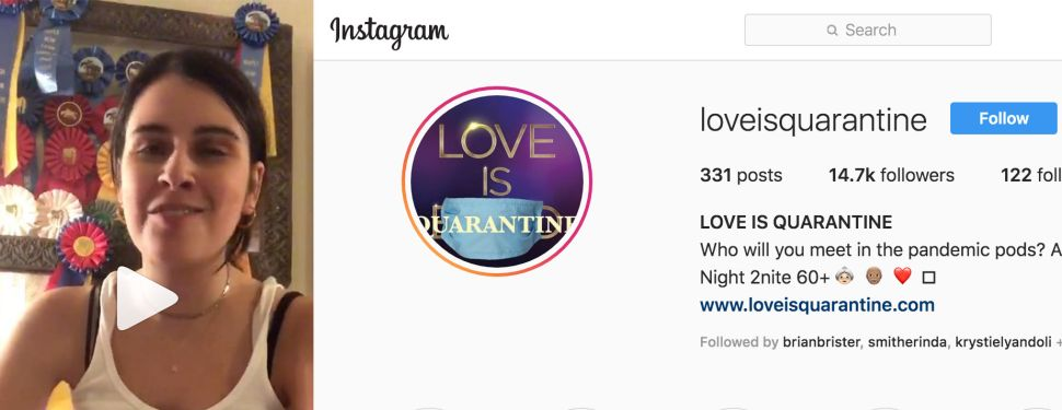 Love Is Quarantine Instagram