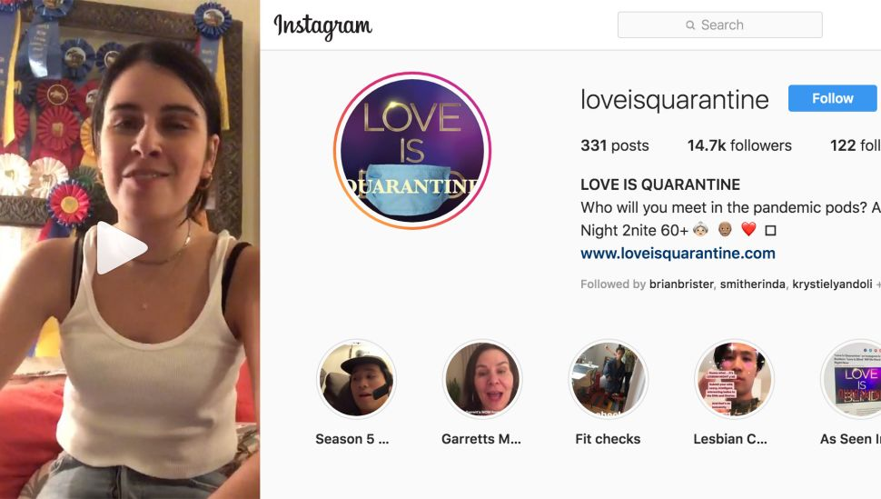 This Instagram Account Is Creating a 'Love Is Blind' for Coronavirus