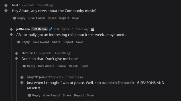 Alison Brie reddit AMA community movie