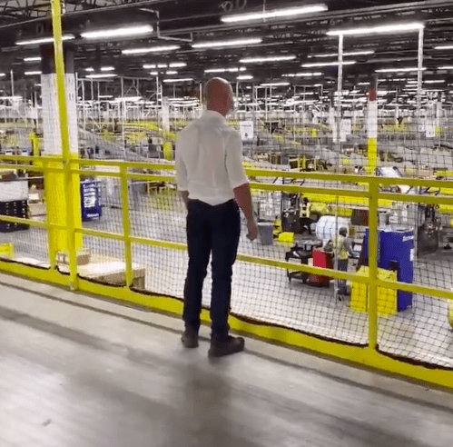 Jeff Bezos Pays Surprise Visit to Amazon Warehouse—Then a COVID-19 Case Turns Up