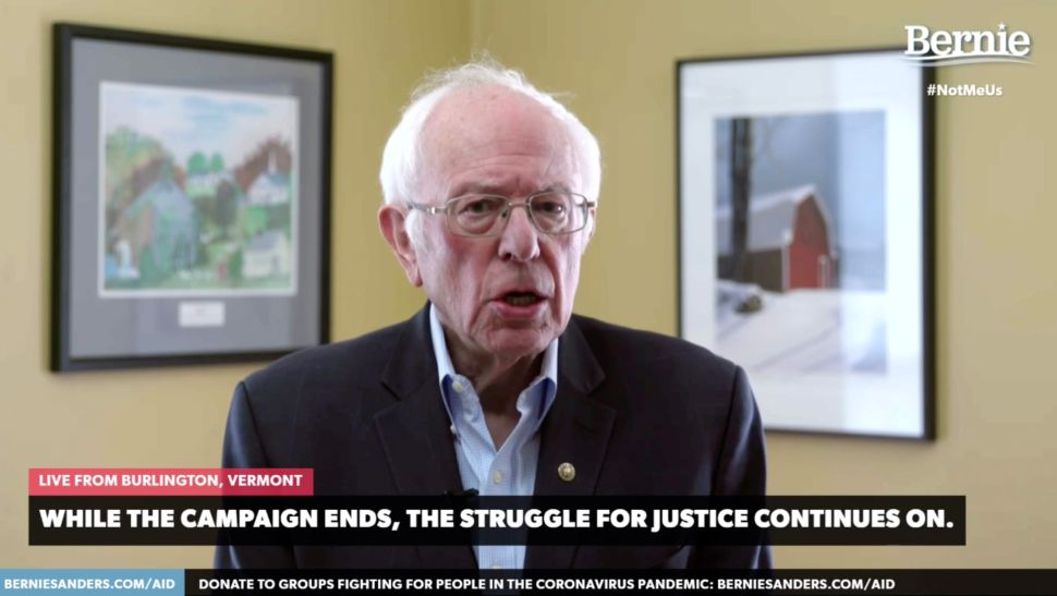 Bernie Sanders Made a Point to Thank Artists While Suspending His Campaign