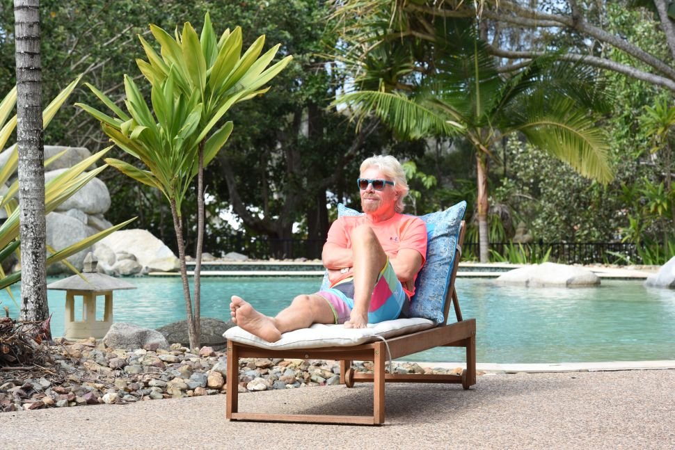 Seeking Government Bailout, Virgin's Branson Offers His Private Island as Collateral