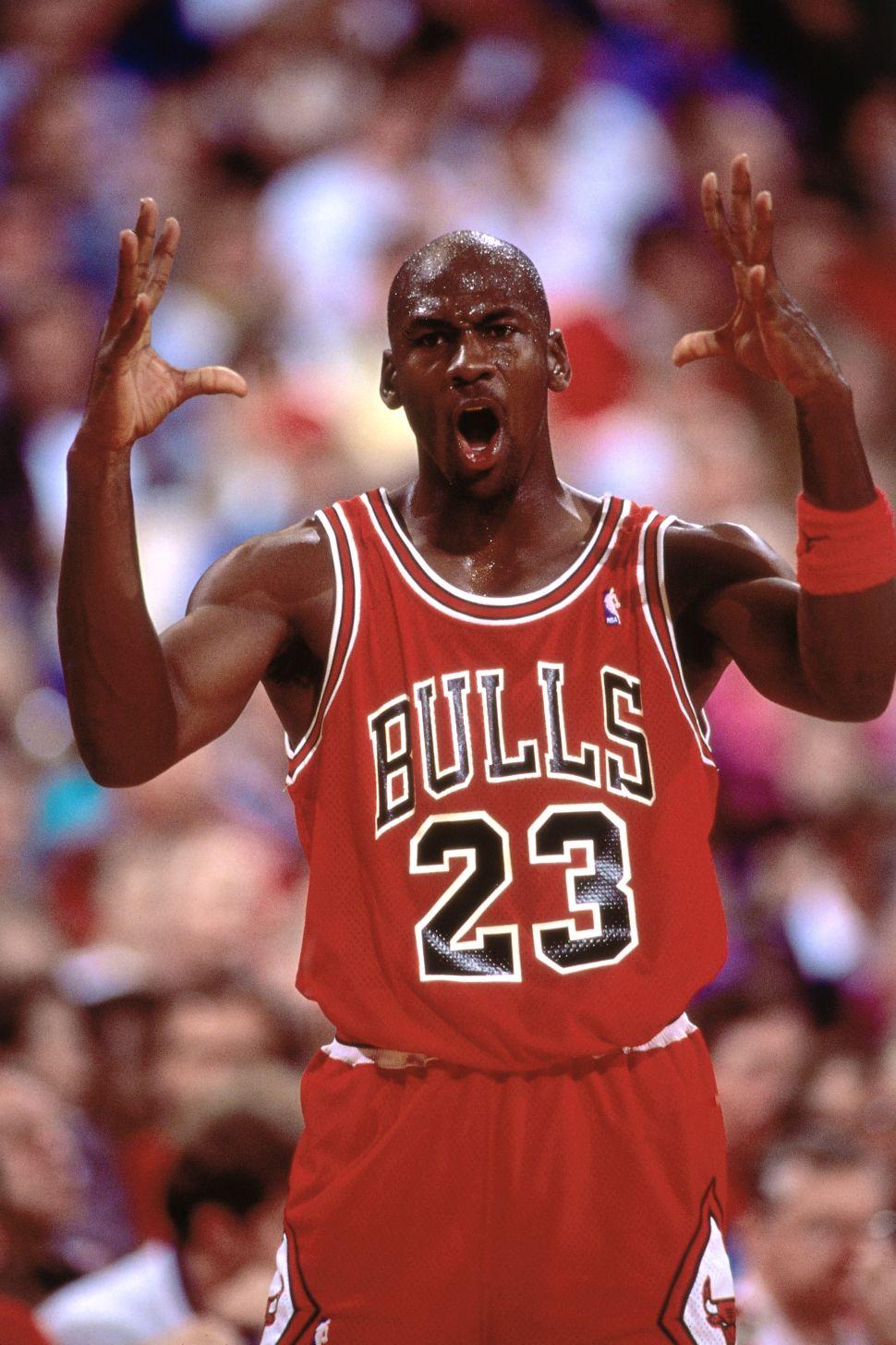 Michael Jordan of the Chicago Bulls 23