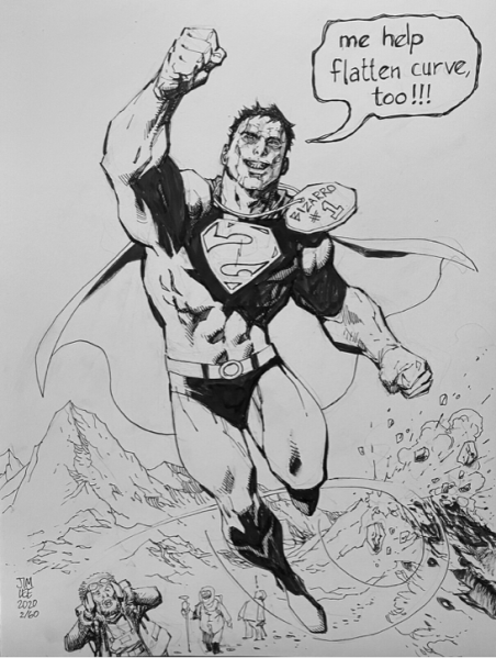 Marvel And Dc Illustrators Auction Off Drawings To Help Comic Stores Observer