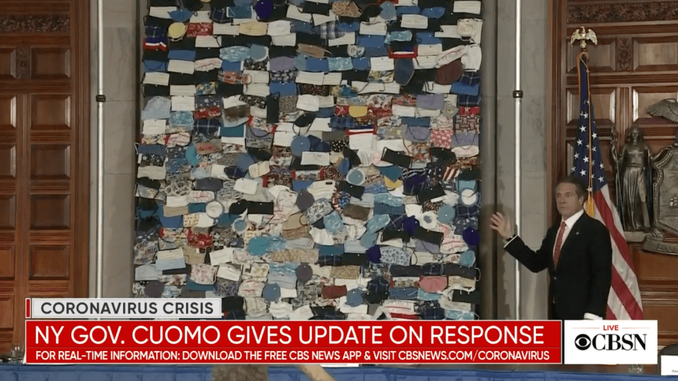 Reactions to Gov. Cuomo's Handmade Mask Collage Were Wildly Mixed