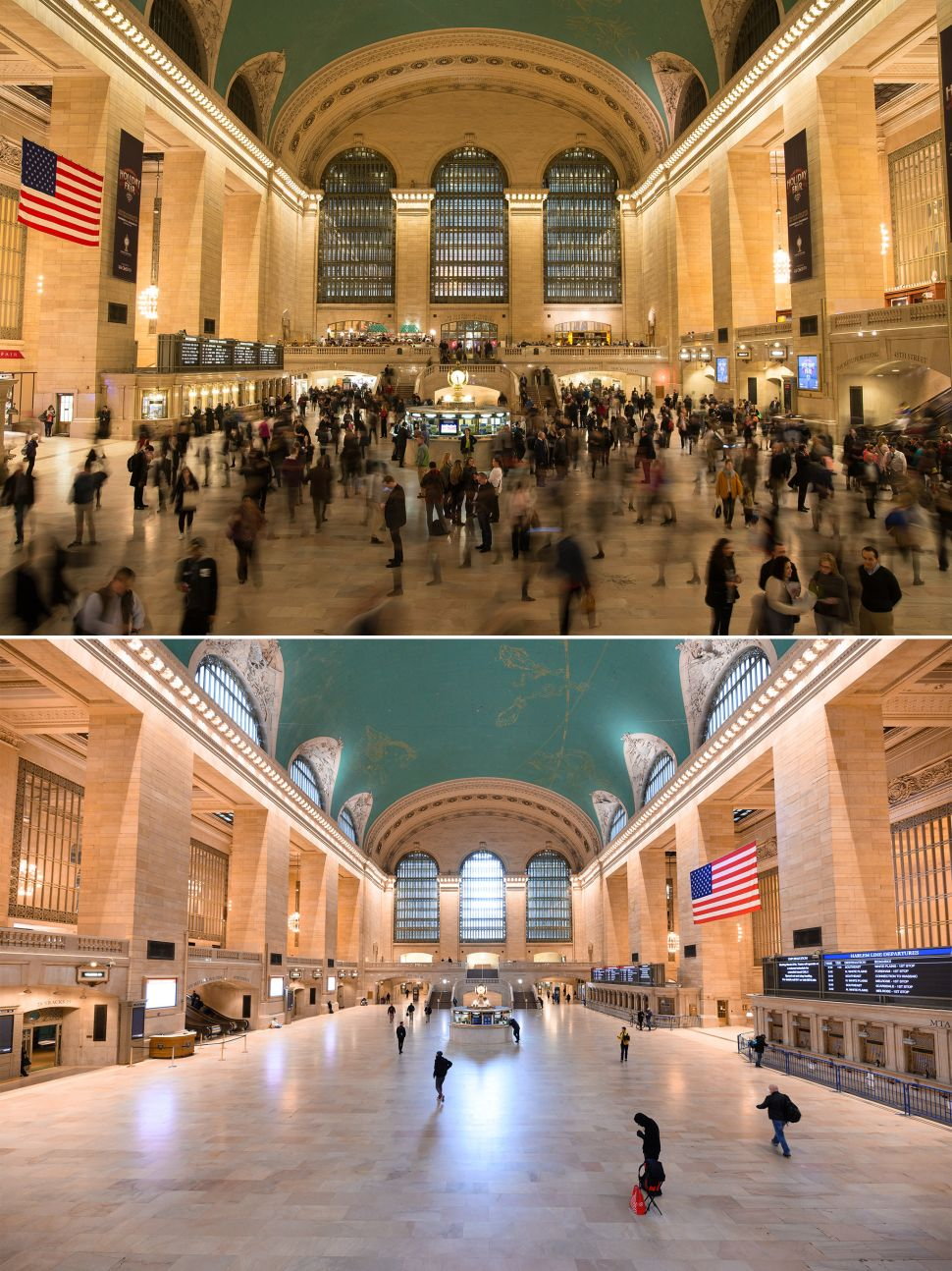 Grand Central Station before and after coronavirus