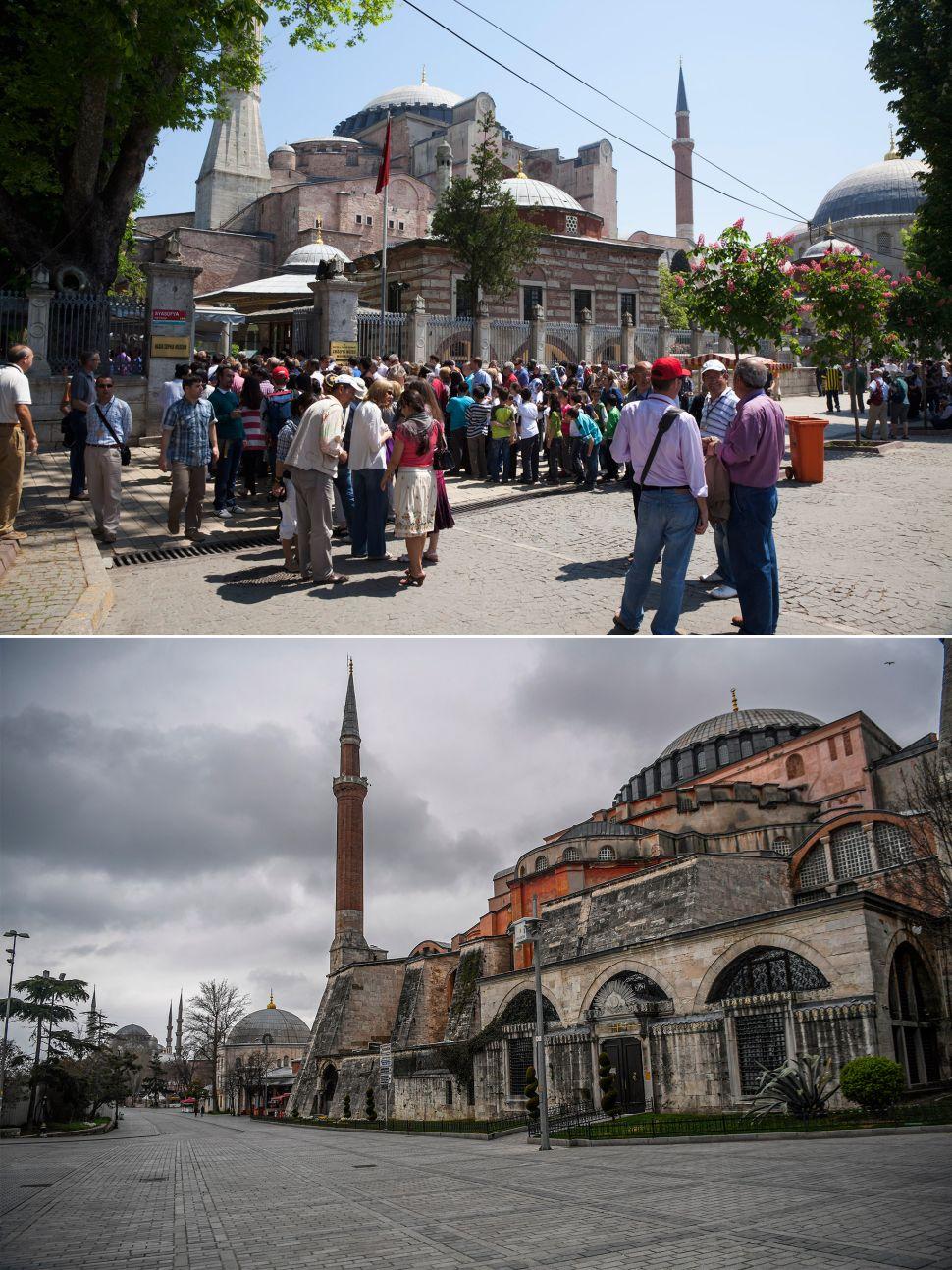 Hagia Sophia before and after coronavirus