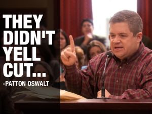 patton oswalt parks and recreation article two filibuster