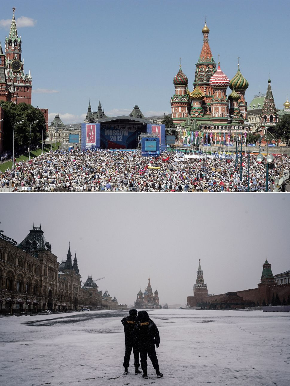 Red Square before and after coronavirus