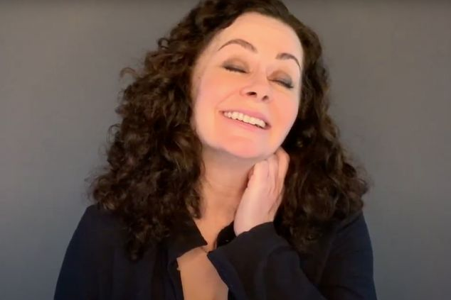 Geraldine Hughes as Molly Sweeney in Irish Rep's 2020 Virtual Production of MOLLY SWEENEY