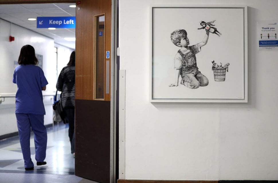 Banksy's 'Game Changer' Painting Was Almost Stolen From a UK Hospital