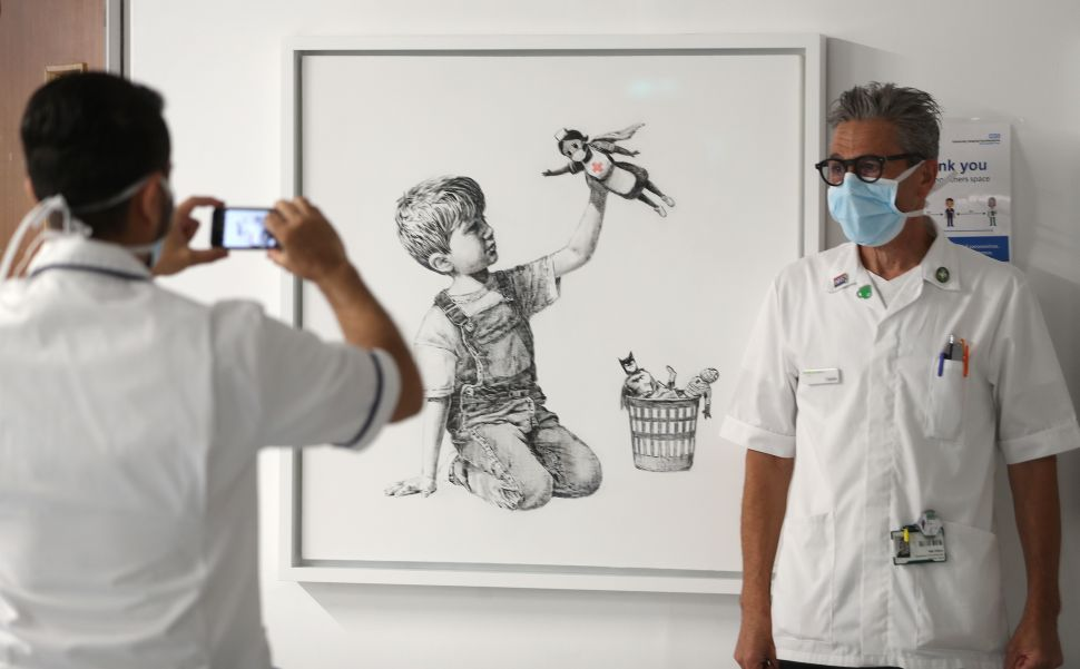 Banksy's Latest Artwork Celebrates the Heroism of Hospital Workers