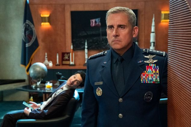 Steve Carell and Ben Schwartz star in Space Force