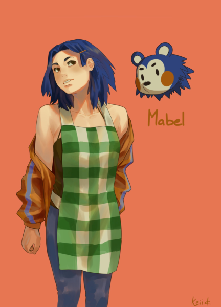 Artist Illustrates Human Versions Of Animal Crossing Characters