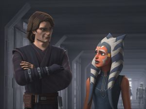 Anakin Skywalker and Ahsoka Tano in Star Was: The Clone Wars