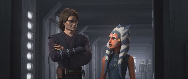 Anakin Skywalker and Ahsoka Tano in Star Was: The Clone Wars