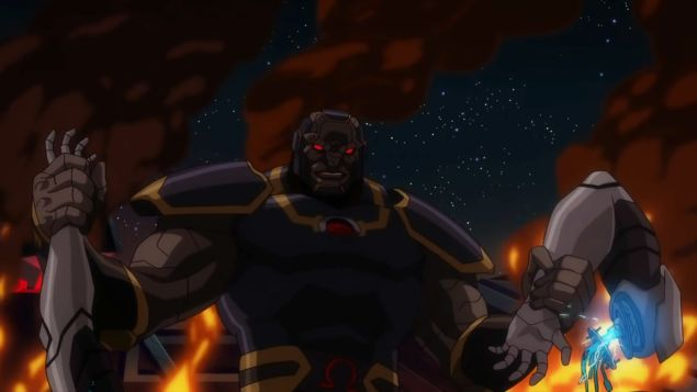 Darkseid, ripping off a hero's arms in Justice League Dark: Apokolips War
