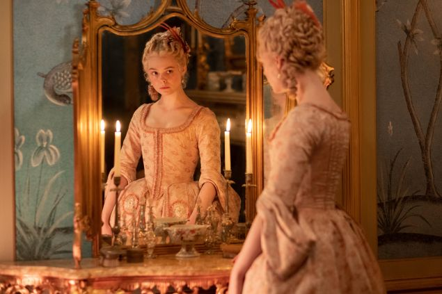 Elle Fanning as Catherine the Great in The Great