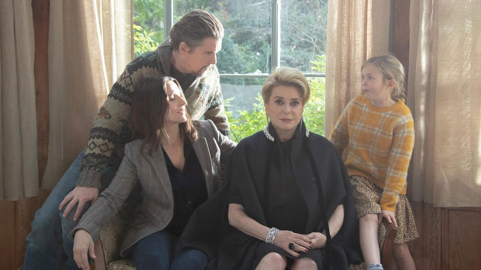 Juliette Binoche, Ethan Hawke, Catherine Deneuve and Clementine Grenier star in The Truth, directed by Hirokazu Kore-eda