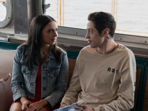 Kelsey (Bel Powley) and Scott Carlin (Pete Davidson) in The King of Staten Island, directed by Judd Apatow