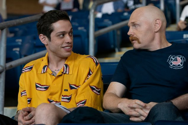 Scott Carlin (Pete Davidson) and Ray Bishop (Bill Burr) in The King of Staten Island