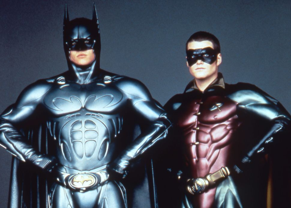Val Kilmer and Chris O'Donnell as Batman and Robin in Batman Forever