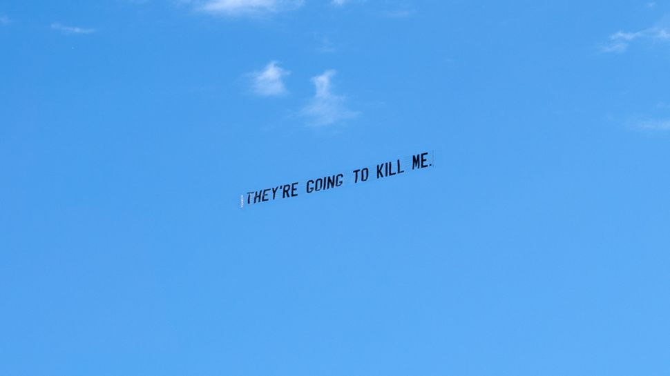 Artist Jammie Holmes Flies Banners Across the Sky to Remember George Floyd's Last Words