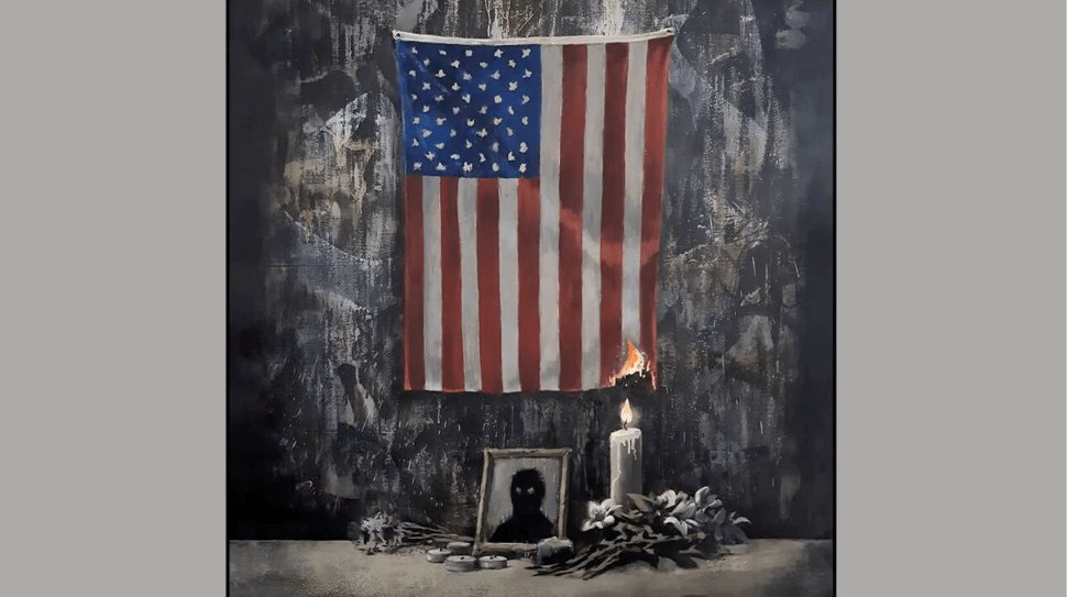 Banksy Is No Stranger to Using the American Flag as a Symbol Within His Work