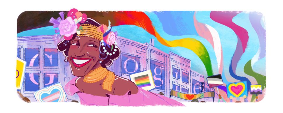 Marsha P. Johnson's Google Doodle Honors Her Pioneering Activism