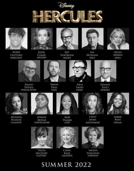 Disney Hercules Live Action cast 2022