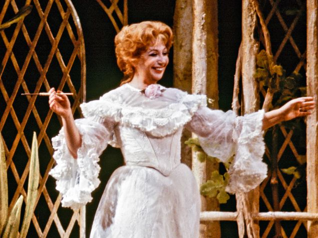 "Beverly Sills provides a blast from the past for Independence Day in the Met's ""Don Pasquale""."