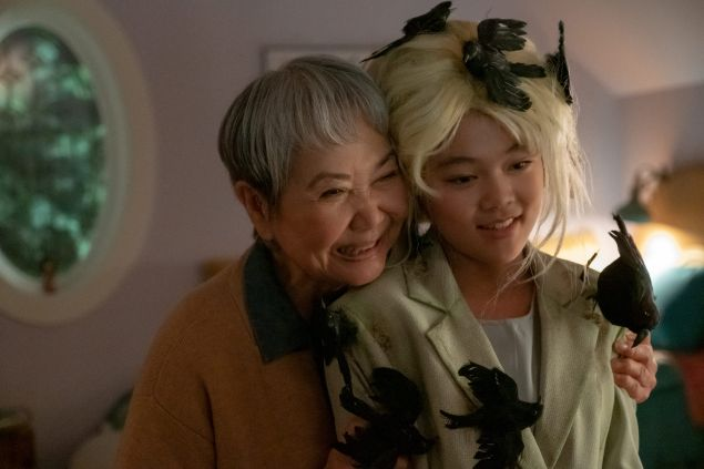 Momona Tamada as Claudia Kishi and Takayo Fischer as her grandmother Mimi Yamamoto in The Baby-Sitters Club