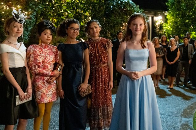 Shay Rudolph as Stacey Mcgill, Momona Tamada as Claudia Kishi, Malia Baker as Mary Anne Spier, Xochitl Gomez as Dawn Schafer And Sophie Grace as Kristy Thomas in The Baby-Sitters Club