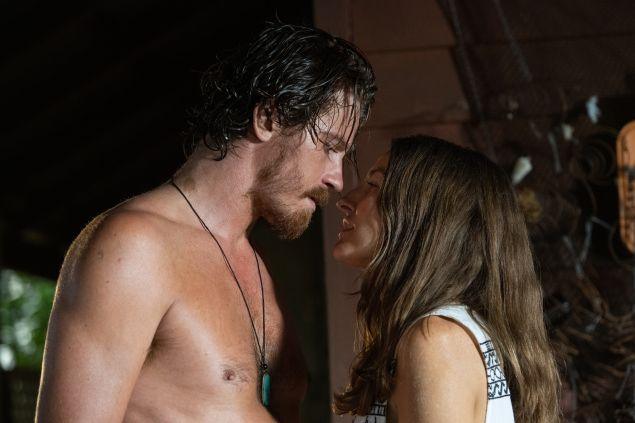 Garrett Hedlund as Luther Fox and Kelly Macdonald as Georgie Jutland in Dirt Music
