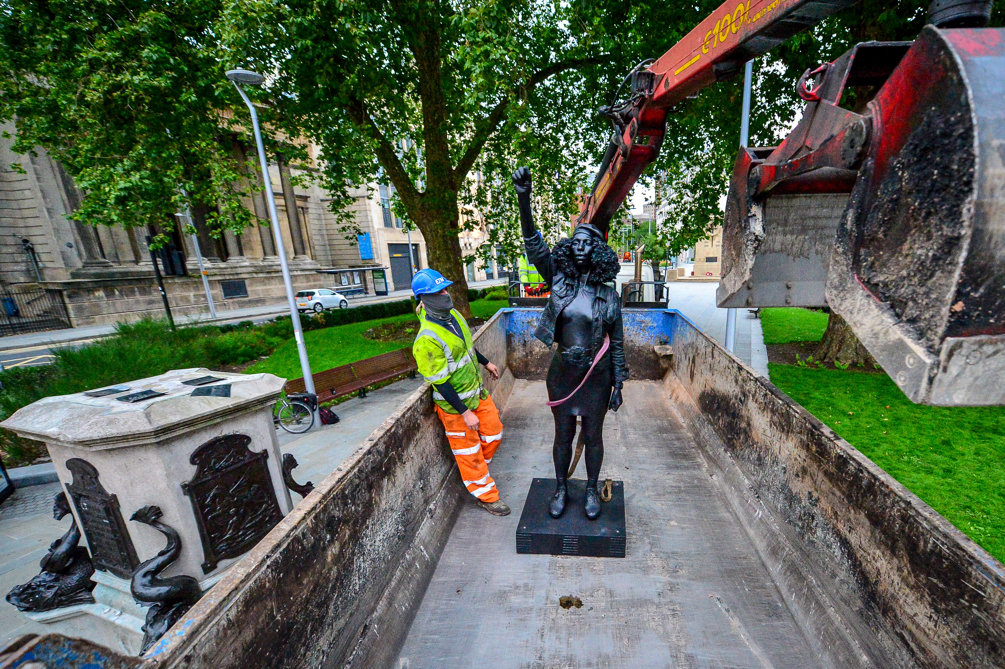 A Statue of Black Lives Matter Protester Jen Reid Was Taken Down in Bristol