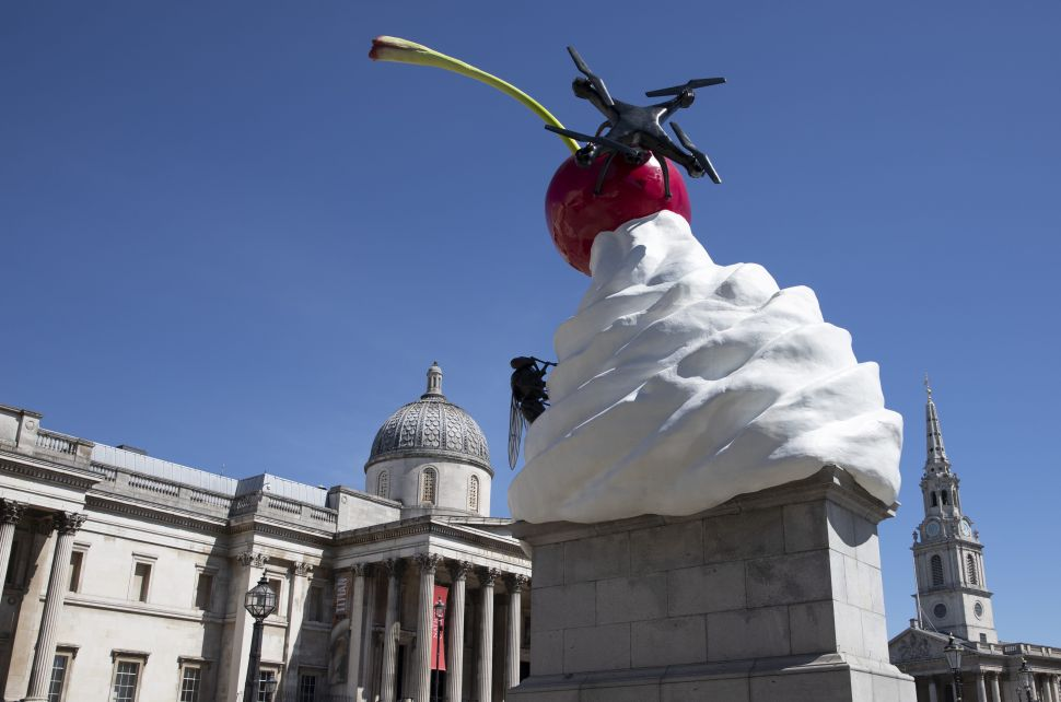 Heather Phillipson's Dystopian Sculpture Lets You Spy on Trafalgar Square