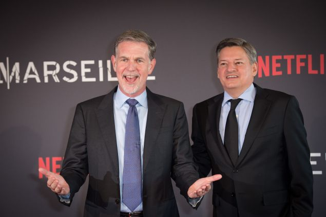 Netflix stock Ted Sarandos Reed Hastings